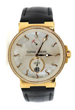 Ulysse Nardin Maxi Marine Diamond 18K Rose Gold Watch 266-66