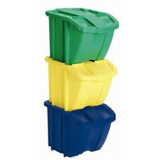 recycle bin set (3-piece) | suncast stackable recycling kit storage containers