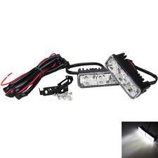 2x Universal 3 LED White High Power Car DRL Daytime Running Light Fog Lamp 12V