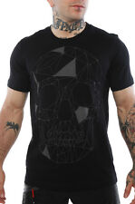 New ! Iron Fist Men's Athletic Fractal Skull Black T-Shirt Size M - Medium