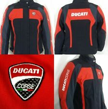Ducati Dainese D-Dry Black Red Nylon Sz 42 Waterproof Armoured Motorcycle Jacket