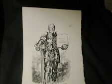Cesare-Original Political Cartoon-WWI Wilson Fights for Peace and Justice