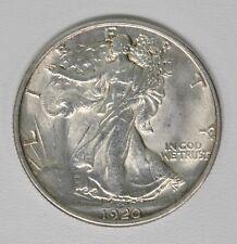 1920 50C WALKING LIBERTY HALF DOLLAR AU+ Nice Details