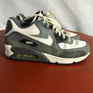 Nike Air Max 90 Youth Kids Size 6Y Shoes Gray White Black Mid Top Train Sneakers