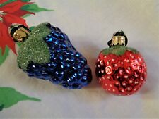 Christborn German Berry Ornaments Lot of Two