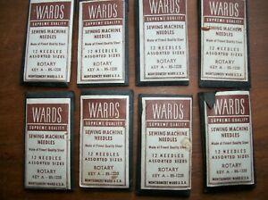 8 Packs Vintage Montgomery Wards Rotary Sewing Machine Needles