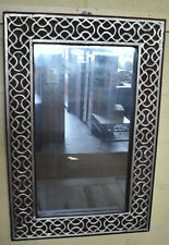 Frame Celtic Style Mirror Whitemetal on Carved Wood 60x90cm