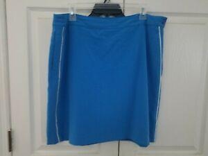 Women's EP Pro Golf Blue Skort Size 14 Side Zipper Back Pocket  Athletic