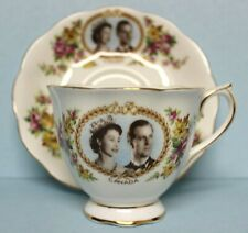 Royal Albert Vintage Bone China 1959 Royal Visit Canada Tea Cup and Saucer EUC