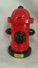 Pet/Urn cremation/memorial/Ashes LARGE Fire Hydrant / plate/Red and Black