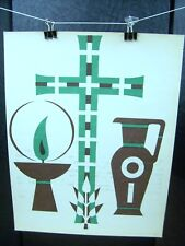 """Extreme Unction"" Symbolism Print 1955 Order of Saint Benedict, Inc"