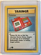 TRAINER - POKEDEX 1st Edition 87/102 Vintage Pokemon GERMAN Base MINT Card