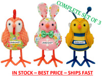 NEW Target Featherly Friends Easter Fabric Bird Bunny, Rooster & Bee - Set of 3