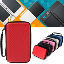Carbon Fiber EVA Hard Carrying Case Cover Handle Bag For Nintendo New 2DS LL/XL