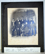 "Large 12"" Antique Cabinet Photo Immigrant Family Bill Kuglin Elizabeth Martha"