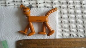 Antique Little Orphan Annie SANDY WOOD JOINTED TOY Jaymar, Dog, Comic Character