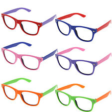 499b1a478eb Small KIDS SIZE Retro Frame Clear Lens Glasses NERD Classic Costume Boys  Girls