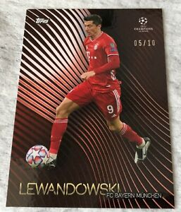 Topps UEFA Champions League Knockout Robert Lewandowski N°05/10 + Base Card SSP