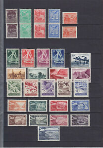 YUGOSLAVIA 1934-1951, MOSTLY AIR MAIL SETS / 45 STAMPS, MLH/MNH