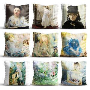 Painting By Berthe Morisot High Quality Silk Pillow Cover Case Sofa Dec Cushion