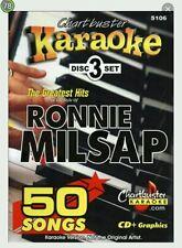 Chartbuster karaoke cdg ronnie milsap (5106) 3 disc box set 50 tracks new
