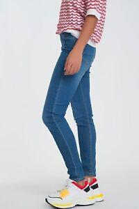 Jeans elasticizzati donna vita alta skinny push up da pantaloni nuovi leggins XS