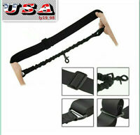 USA Black Adjustable Hunting Tactical one Point  Bungee Rifle Gun Sling Strap