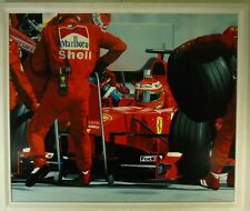 Günther J. Herrmann Formel I Ferrari Fotorealismus Öl datiert 2002 signiert