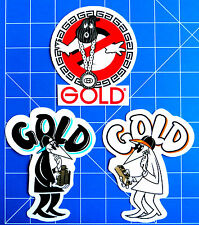 GOLD WHEELS STICKER PACK  #5 ****KIT OUT THE BEER FRIDGE!***