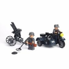 WW2 MOC German Military Minifigures Weapons Bike SS Soldier Compatible With Lego