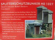 Busch 1027 H0 Kit de montage 2 x Bunker de protection anti-éclats 27x27x30 mm