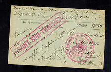 1918 France Army South Tunisia Front Postcard cover Only Known Example! Commande