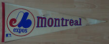1970'S VINTAGE MONTREAL EXPOS MLB BASEBALL FULL SIZE PENNANT FLAG