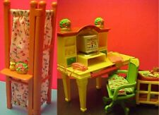 Fisher-Price Loving Family COMPUTER HUTCH DESK Dollhouse Furniture Phone Office!
