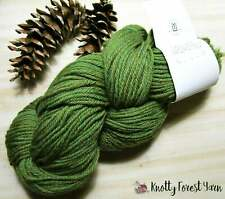 Pure Wool Yarn SHAMROCK HEATHER GREEN Deluxe Worsted by Universal Yarn 220y Felt