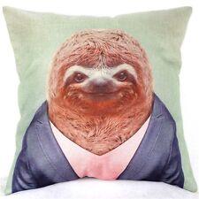 Home Decor Office Cotton Linen Sloth Man Orange Cushion Cover Pillow Sofa 45cm