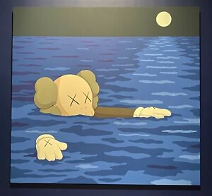 """KAWS x BROOKLYN MUSEUM """"WHAT PARTY"""" """"TIDE"""" POSTER (45"""" x 48"""") *BRAND NEW in TUBE"""