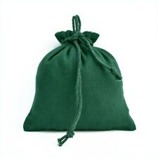 """50 PCS Cotton Drawstring Green Jewelry Packaging Pouch Small Gift Coin Bags 5x5"""""""
