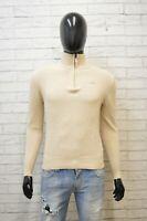 Maglione Kappa Uomo Taglia S Pullover Felpa Sweater Cardigan Lana Beige Man Wool