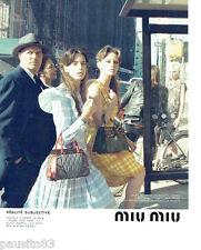 PUBLICITE ADVERTISING 066  2015  Miu-Miu  par Steven Meisel sacs haute couture