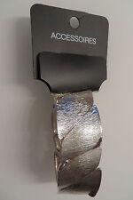 N K D Accessoires ARMBAND silber, L 20 B 3,5 c m, Spange Armreif 8 Glieder,Gummi