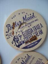 NOS MILK BOTTLE CAP Better Maid Dairy products coffee cream ATHENS GA