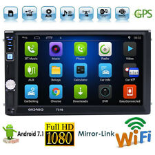Quad Core Android 7.1 3G WIFI Double 2 DIN Car MP5 Player Radio Stereo GPS Nav