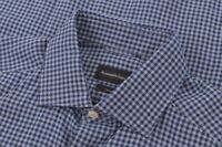 Ermenegildo Zegna NWT Sport Shirt Size S In Blue Plaid Cotton & Cashmere $475