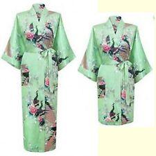 Bridesmaid Satin/Silk Short/long Wedding Bride Robe Women Floral Bathrobe Kimono