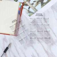 A5/A6 2020 Calendar Ring Binder Notebook Paging Separator Notepad Inner PapDD