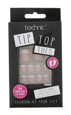 Technic Tip Top Toe Nail Tips 24 False Fake Toes Nails 4 Colour Fashion Feet Natural French