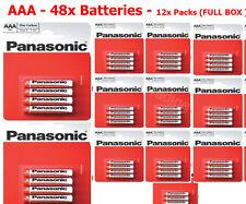 48x AAA Panasonic Genuine Heavy Duty Zinc Carbon 1.5V R03 Batteries - FULL BOX
