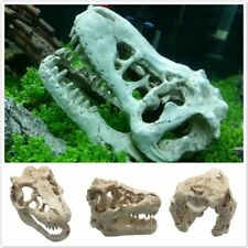 Artificial Dinosaur Head Skull Aquarium Fish Tank House Cave Ornament Decoration