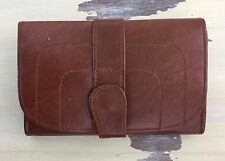 VTG WALLET - Faux Leather, Brown, Check Book, Many Of Slots & Pockets!